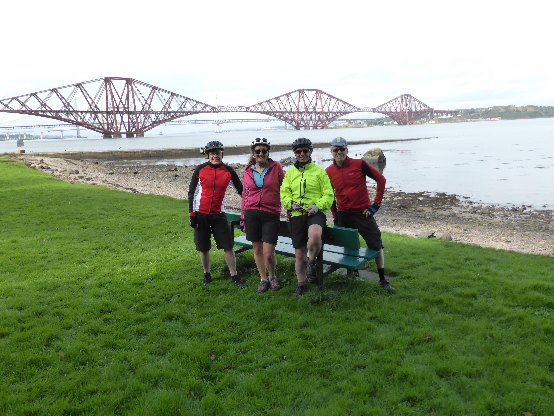 Finishing the Scottish C2C near the Forth Bridge
